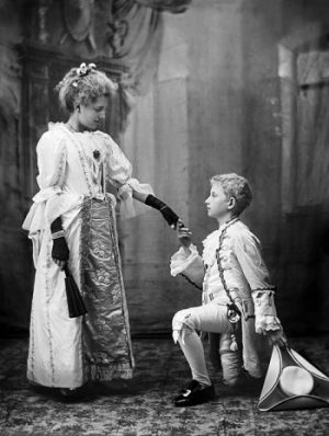 1880_1900 Studio portrait of woman and child in fancy dress