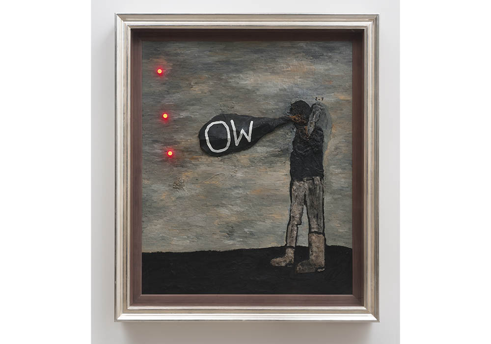 David Lynch, Broken Heart, 2013, oil and mixed media on canvas, courtesy the artist